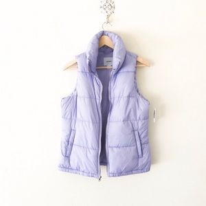 Old navy fleece lined puffer vest